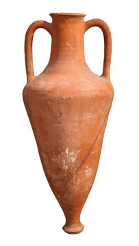 Ancient amphora isolated