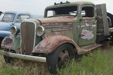Old Truck Decaying in a Field