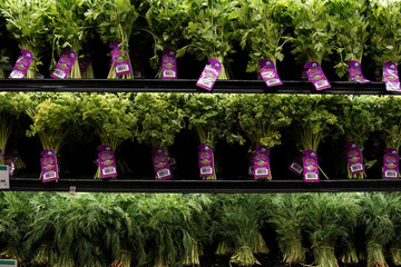 Fresh herbs for sale are pictured inside a Whole Foods Market in the Manhattan borough of New York City