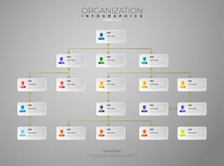 Organization Chart Infographic