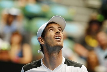 Britain's Murray looks up as the roof is closed during his quarter-final match against Spain's Ferrer at the Australian Open tennis tournament at Melbourne Park