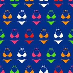 Bikini seamless pattern background