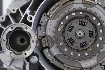 Car clutch gear close up