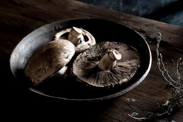 Raw Portabella Mushrooms