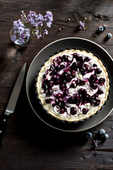 Blueberry Swirl Cheesecake Tart
