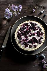 Blueberry Swirl Cheesecake Tart