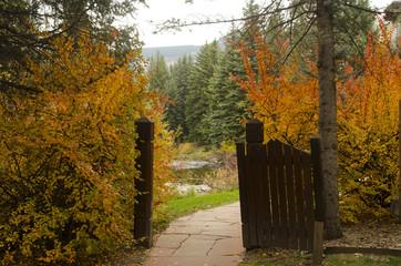 Garden Gate in Autumn
