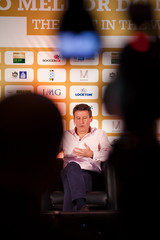 Chairman of the London Organising Committee of the London 2012 Olympic Games Sebastian Coe during the press conference
