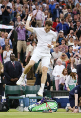 Men's Singles - Great Britain's Andy Murray wins his fourth round match