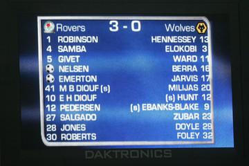 Blackburn Rovers v Wolverhampton Wanderers Barclays Premier League