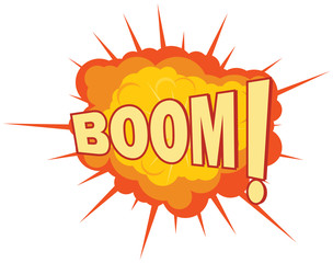Explosion with Boom text vector image