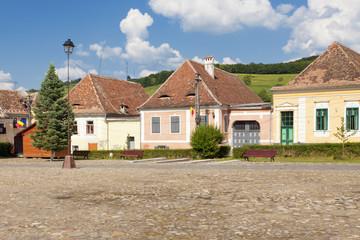German houses in Biertan Sibiu Romania
