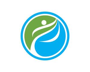 Healthy People Leaf Logo
