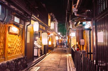 Garden Poster Kyoto 京都 夜の先斗町
