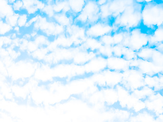 Abstract blur photography.Blue sky with cloud for background and wall paper.