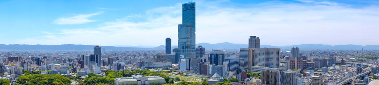 大阪 都市風景 - City view ,Osaka city,Japan.