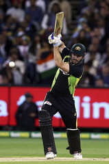 Australia's Shaun Marsh batting against India during their T20 cricket match at the Melbourne Cricket Ground