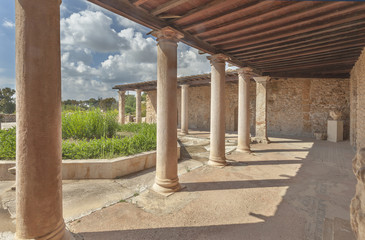 Reconstructed roman villa in Carthage, UNESCO World Heritage Site, Tunisia