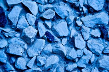 Blue stones concrete wall