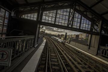 U-Bahn Haltestelle in Hamburg