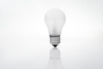 Energy saving light bulb on a white background.