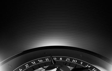 Black Casino Roulette Copy Space