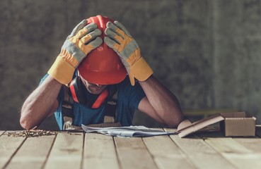 Disappointed Sad Contractor