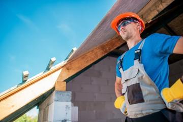 Proud Caucasian Home Builder