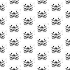 Vintage Contour Vintage Butterfly Background