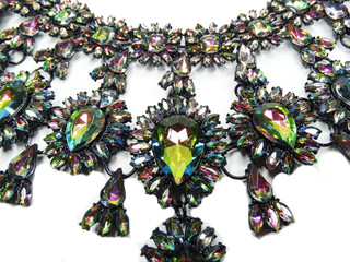 jewelry with bright crystals necklace luxury fashion