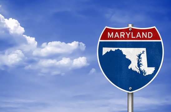Maryland road sign map