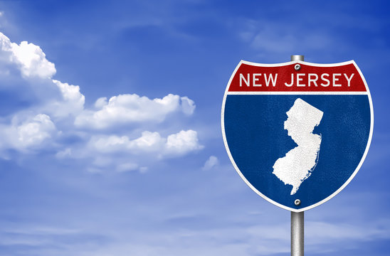 New Jersey road sign map