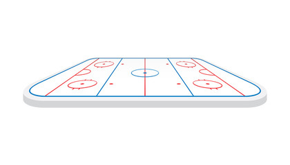 Vector of ice hockey rink