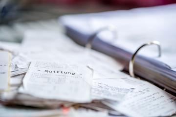 Beleg, Chaos, Steuererklärung