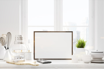 White kitchen table picture