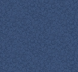 seamless denim paisley pattern