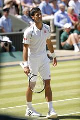Men's Singles - Serbia's Novak Djokovic during his semi final match