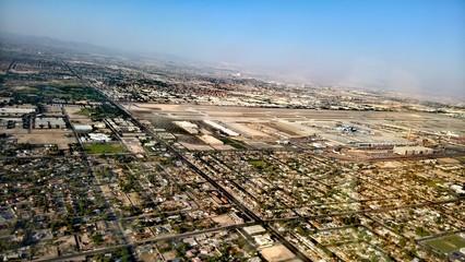 Las Vegas. Nevada.  Flughafen. Luftbild.