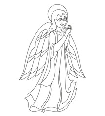 Lovely Angel for coloring book