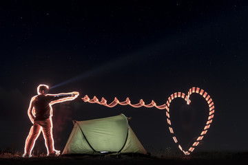 Camping love and creative concept
