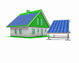 House with electric solar panels