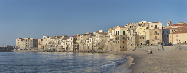Panoram view of old town Cefalu, Sicily, Italy