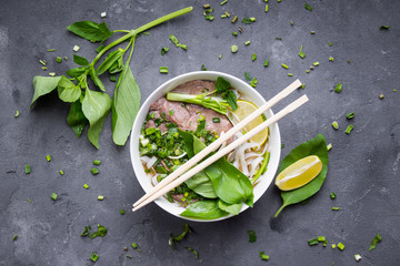 Vietnamese soup pho