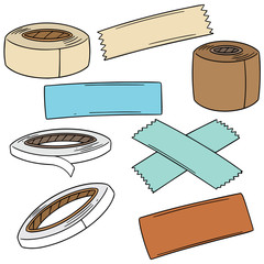 vector set of adhesive tape