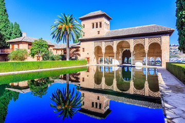 Alhambra of Granada, Spain. The Palace of the Partal.