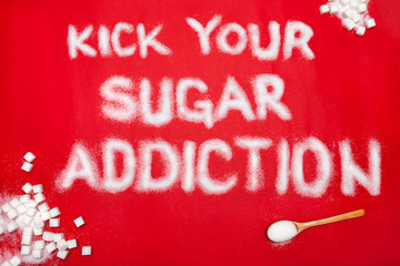 Sugar addiction prevention concept