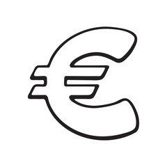 Doodle of euro sign