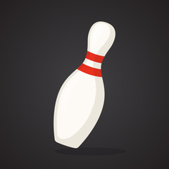 One bowling pin