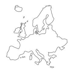 Mapa Europy - kontury