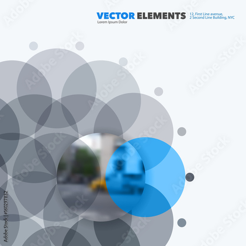 Abstract vector design elements for graphic layout. Modern business ...